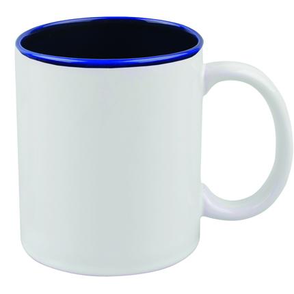 """Кружка керамическая """"Gain"""", 320 мл, снаружи белая, внутри синяя"""