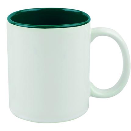 """Кружка керамическая """"Gain"""", 320 мл, снаружи белая, внутри зелёная"""