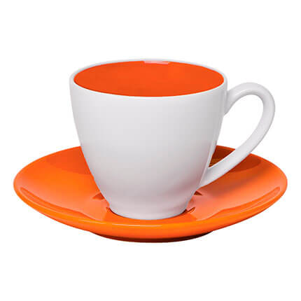 "Чайная пара ""Galena"" 300 мл, цвет оранжевый"