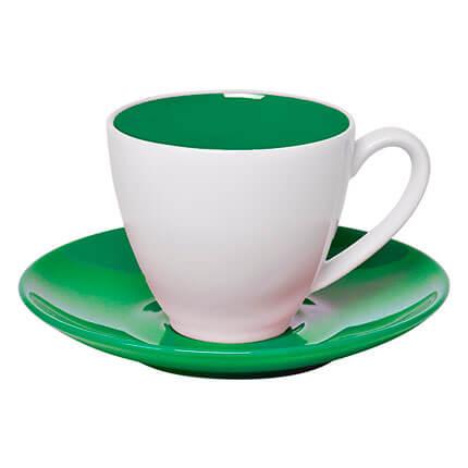 """Чайная пара """"Galena"""" 300 мл, цвет зелёный"""