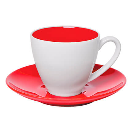 "Чайная пара ""Galena"" 300 мл, цвет красный"