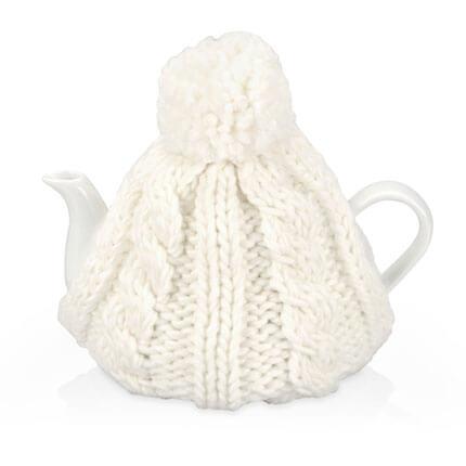 """Чайник фарфоровый """"Шапочка"""", объём 750 мл, цвет шапки белый"""
