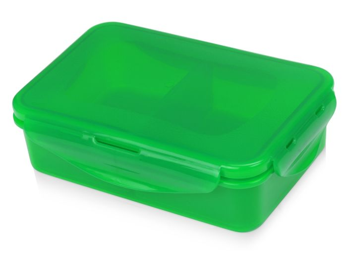 Герметичный ланч-бокс Foody с двумя секциями, 650 мл, зеленое яблоко