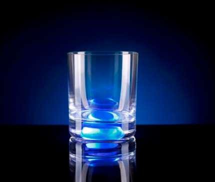 Бокал для виски, с подсветкой, цвет синий