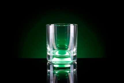 Бокал для виски, с подсветкой, цвет зелёный