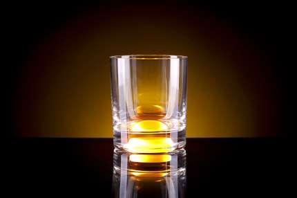 Бокал для виски, с подсветкой, цвет жёлтый