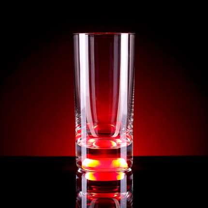 Бокал для воды, с подсветкой, цвет красный