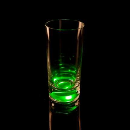 Бокал для воды, с подсветкой, цвет зелёный