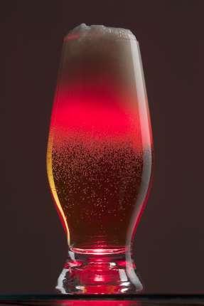 Бокал для пива, с подсветкой, цвет красный