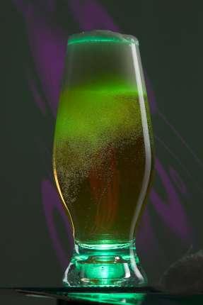 Бокал для пива, с подсветкой, цвет зелёный