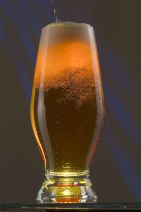 Бокал для пива, с подсветкой, цвет жёлтый