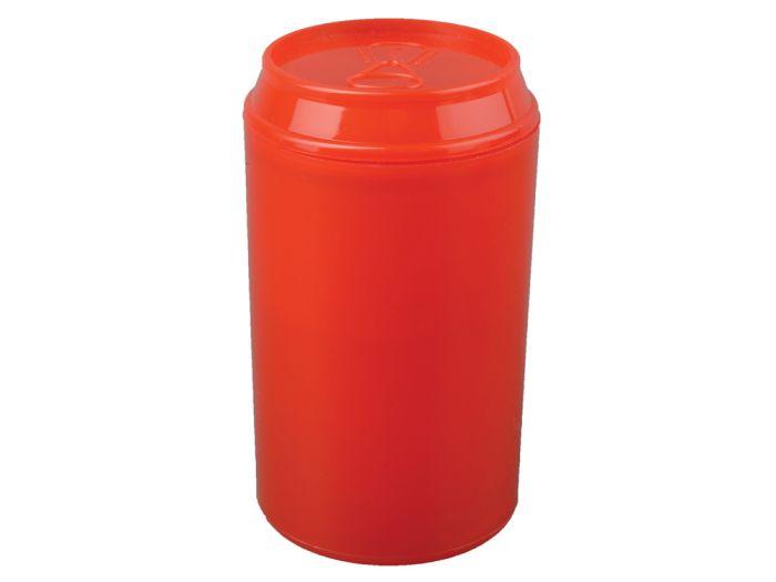 """Набор """"Plastglass"""": 4 стакана по 125 мл с открывалкой, цвет красный"""