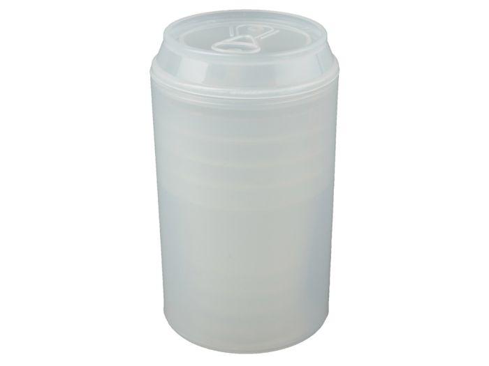 """Набор """"Plastglass"""": 4 стакана по 125 мл с открывалкой, цвет белый"""