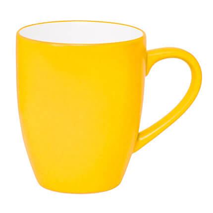 """Кружка керамическая """"Milar"""" 300 мл, внутри белая, снаружи жёлтая"""