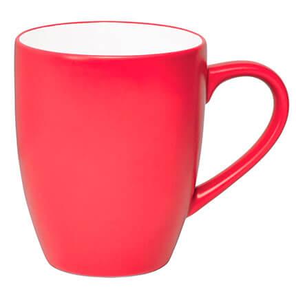 """Кружка керамическая """"Milar"""" 300 мл, внутри белая, снаружи красная"""