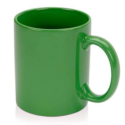 """Кружка керамическая """"Марго"""" 320 мл, цвет зелёный"""