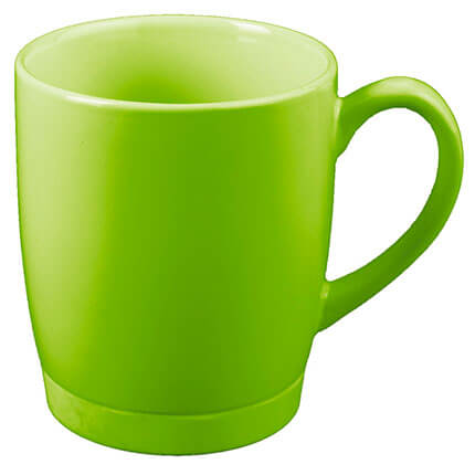 """Кружка керамическая """"Ирвинг"""", 310 мл, цвет зелёное яблоко"""