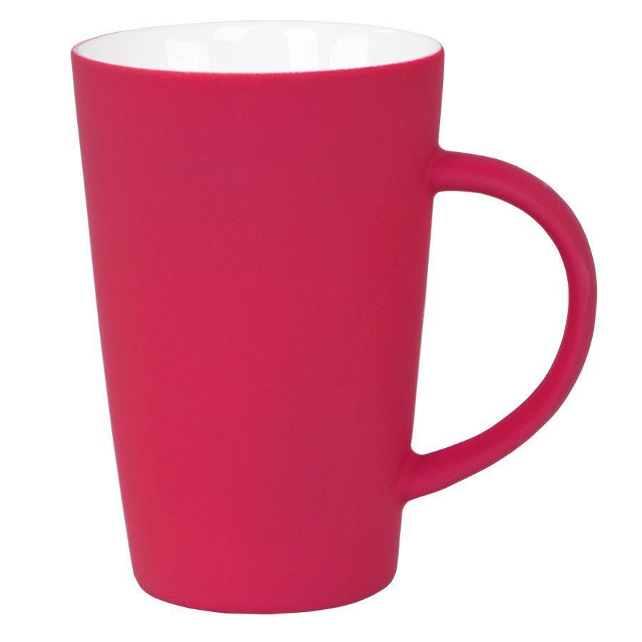 """Кружка """"Tioman"""" с прорезиненным покрытием, красная"""