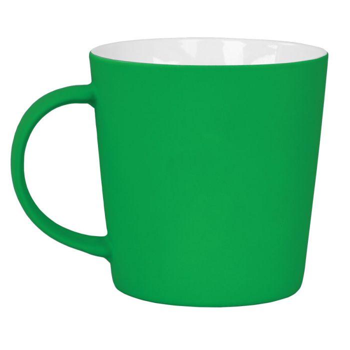 """Кружка """"Bali"""" с покрытием SOFT TOUCH, объём 400 мл, цвет зелёный"""
