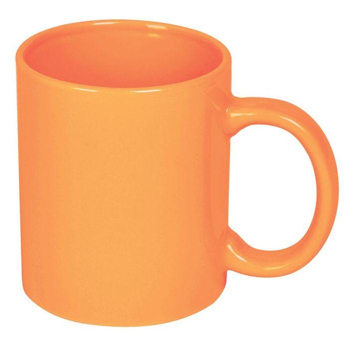 Кружка керамическая, 300 мл, оранжевая