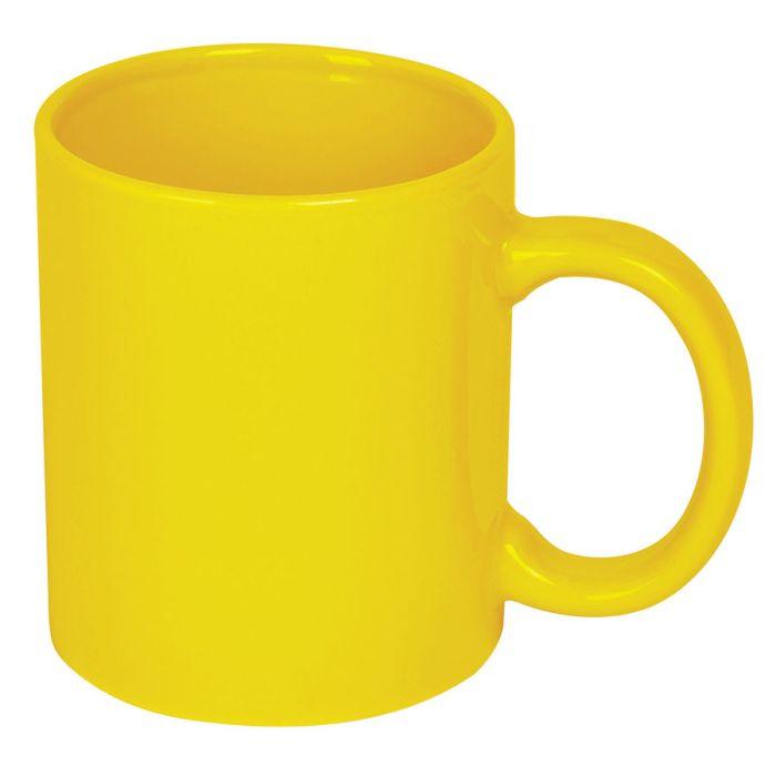 Кружка керамическая, 300 мл, жёлтая