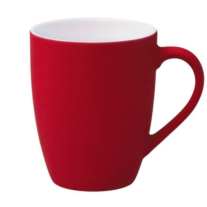 Кружка Good Morning c покрытием SOFT TOUCH, 360 мл, красная