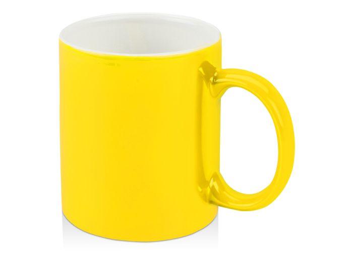 """Кружка """"Марко"""", 320 мл, внутри белая, цвет жёлтый"""