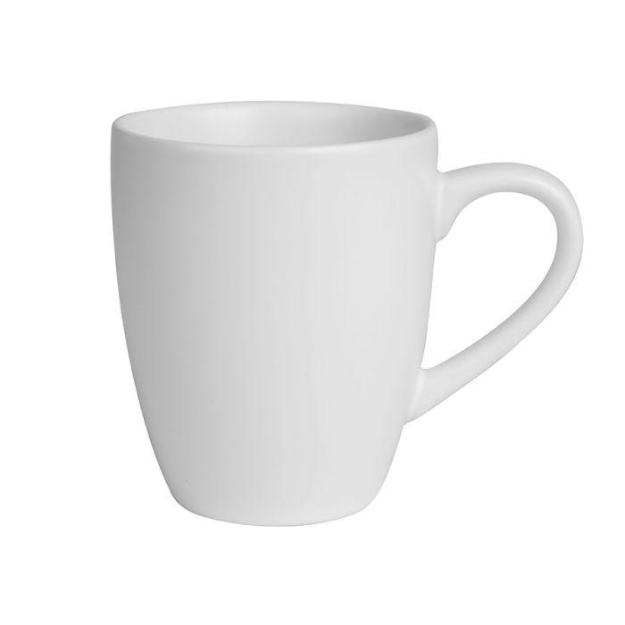 """Кружка керамическая """"Milar"""" 300 мл, внутри белая, снаружи белая"""