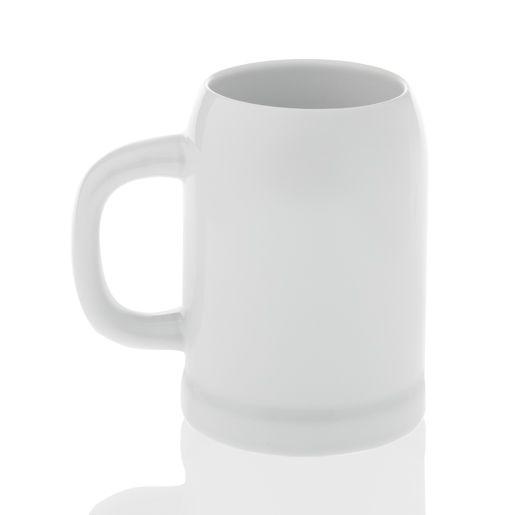 Кружка пивная керамическая, 500 мл, белая