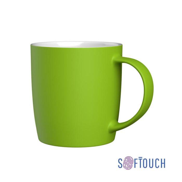 "Кружка ""Best"", 350 мл, покрытие soft touch, цвет зелёное-яблоко"