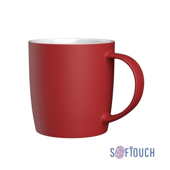 """Кружка """"Best"""", 350 мл, покрытие soft touch, цвет красный"""