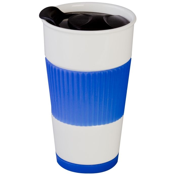 Кружка To Go, 500 мл, цвет белый с синим