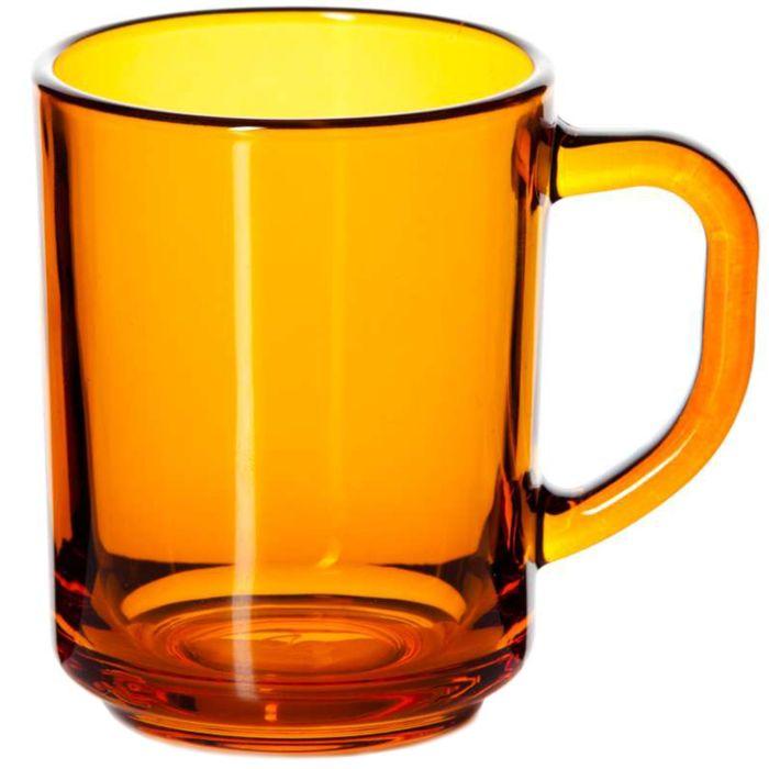 Кружка стеклянная Enjoy, 250 мл, оранжевая