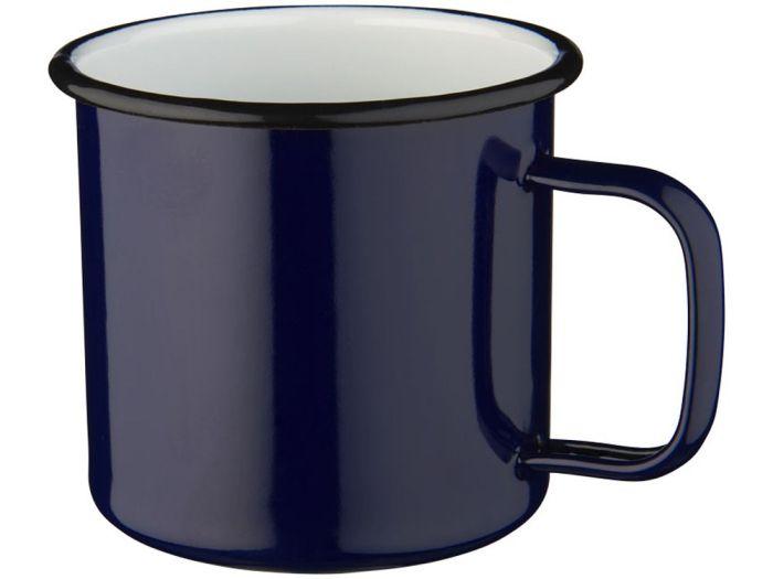 Кружка походная эмалированная, 475 мл, цвет синий