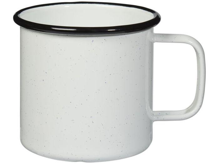 Кружка походная эмалированная, 475 мл, цвет белый