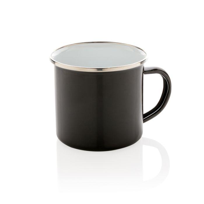 Эмалированная кружка Vintage, 350 мл, цвет чёрный