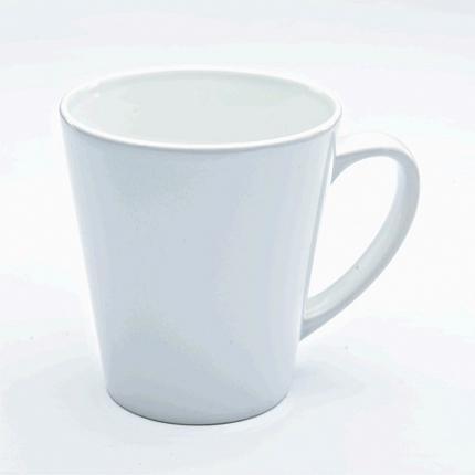 Кружка керамическая белая, конусная малая для сублимации