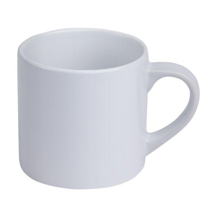 Кружка для сублимации керамическая, 200 мл, кофейная, стандарт, белая