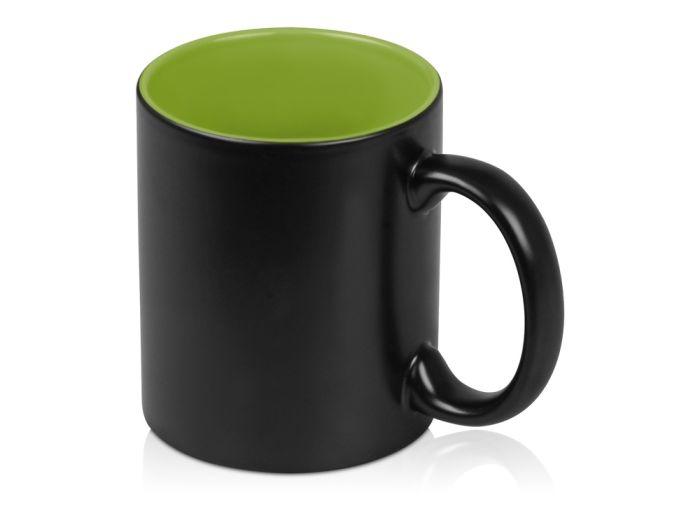"""Кружка """"Subcolor BLK"""", объём 320 мл, снаружи чёрная, внутри зелёное яблоко"""