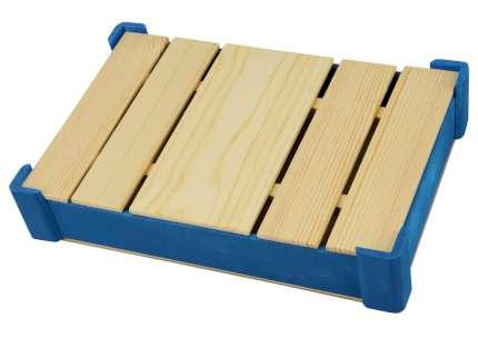 Подарочная коробка из дерева для ежедневника, цвет синий