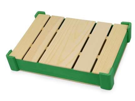 Подарочная коробка из дерева для ежедневника, цвет зелёный