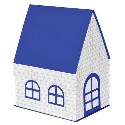 "Упаковка подарочная, коробка ""ДОМ"" складная, размер 15х21х27 см, цвет синий"