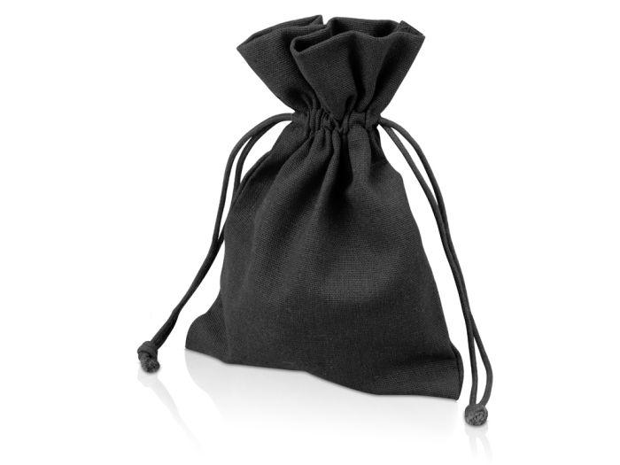 Мешочек подарочный средний, размер 13х18 см, цвет чёрный