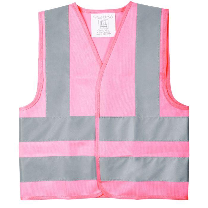 Жилет детский светоотражающий Glow, цвет розовый, размер M