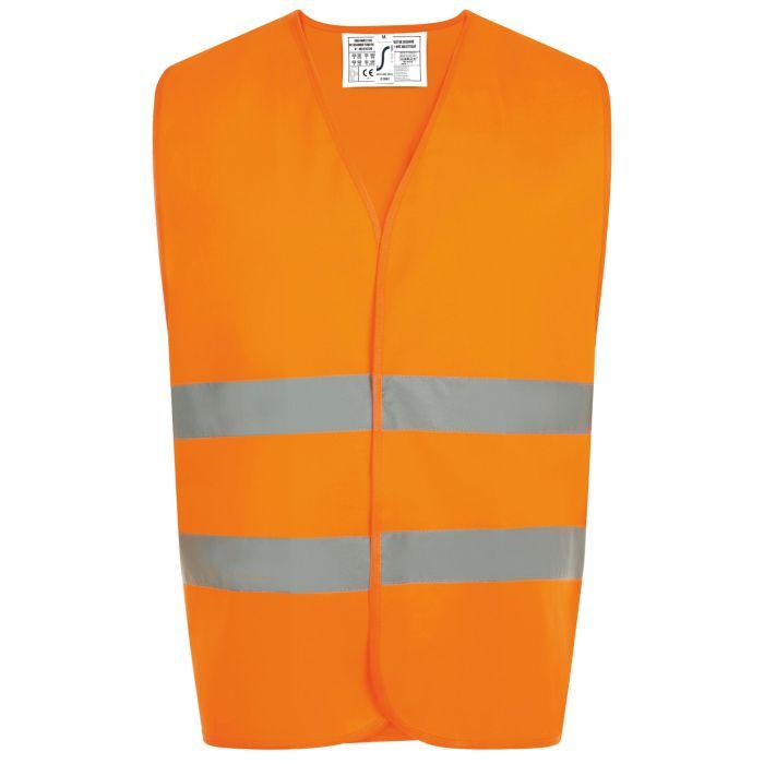 Жилет светоотражающий SECURE PRO, оранжевый неон, размер XXS