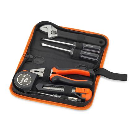 """Набор инструментов """"Специалист"""", цвет чёрный с оранжевым"""