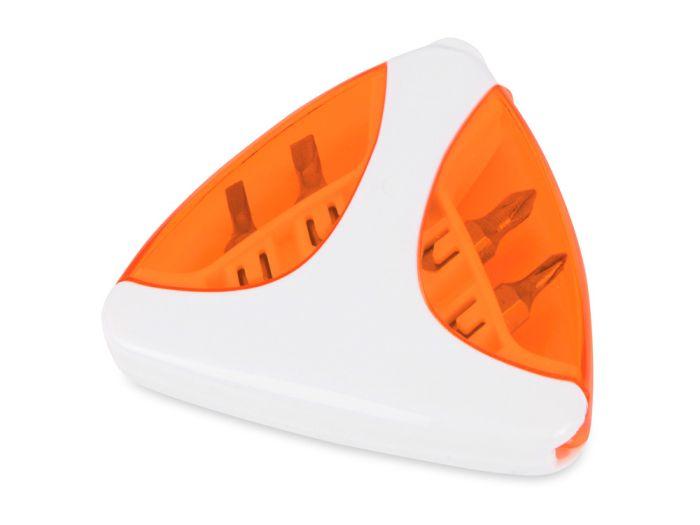 """Набор отверток """"Лепесток"""", цвет белый с оранжевым"""