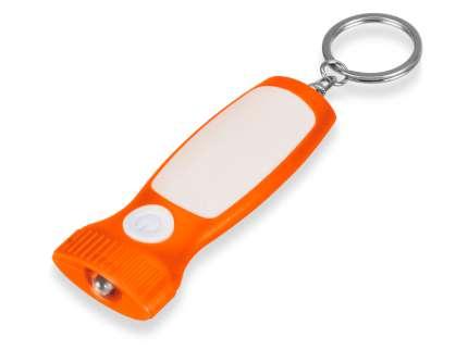 """Брелок-фонарик """"Каяма"""", оранжевый с белой вставкой"""