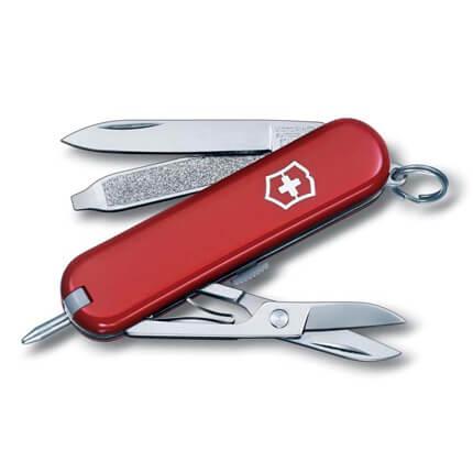 Нож-брелок VICTORINOX Signature, 58 мм, 7 функций, красный
