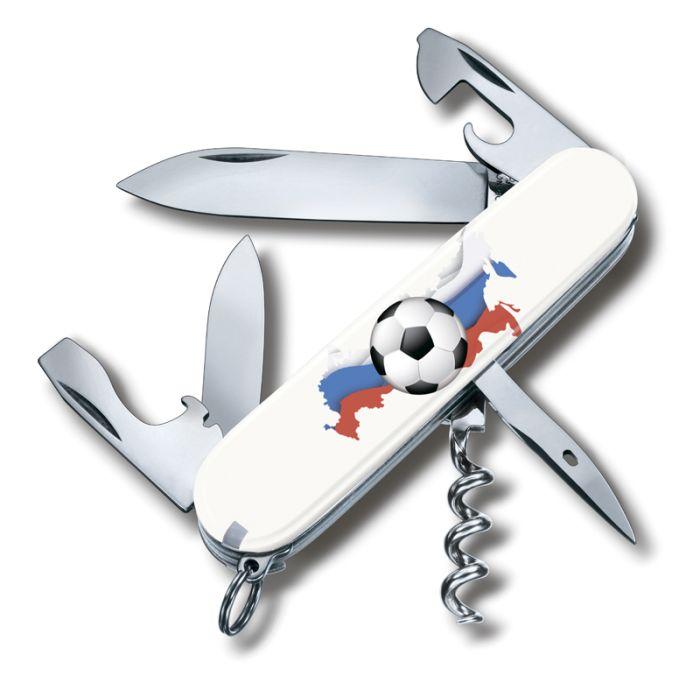 Нож перочинный VICTORINOX Spartan Российский футбол, 91 мм, 12 функций